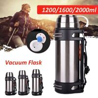1200-2000ml Stainless Steel Vacuum Thermos Water Flask Bottle- Insulated Travel