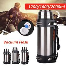 1.2L-2L Stainless Steel Vacuum Thermos Insulated Water Bottle Flask Travel*,