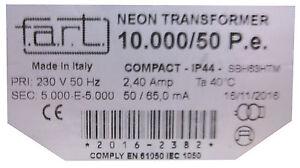 F.A.R.T. Neontrafo Hochspannungstransformator 1000-10000 Volt / 50mA NEUWARE