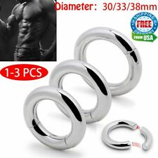 Men Enhancer Chastity Ring Strong Magnetic Ball Stretcher Stainless Steel Weight