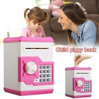 Electronic Money Piggy Bank Mini ATM Password Coins New Kids Savings Box To F1Q1