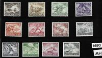 Complete Mint / MH stamp set / Wehrmacht & other Military 1943 / Third Reich