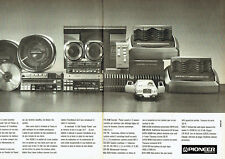 Publicité Advertising 078  1985    Pioneer (2 pages)   chaine hi-fi