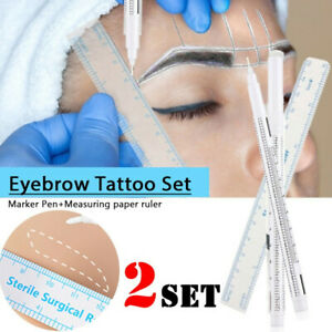 Accessories Brow Pencil White Surgical Eyebrow Tattoo Skin Marker Pen