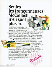 PUBLICITE ADVERTISING 115  1966  MC CULLOCH  tronçonneuse