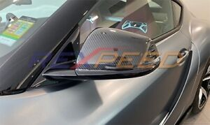 REXPEED Dry Carbon Mirror Covers for 2020 Supra A90