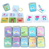 Baby English Learning Word Card Pocket Flash Cards Montessori Educational Toys