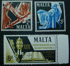 1967  MALTA: QE II: MARTYRDOM OF ST. PETER & ST PAUL: SET OF 3 MNH STAMPS