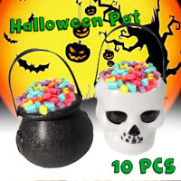 10x Halloween Cauldron Witch Skull Multi Sweet Candy Holder Planter Pot Party