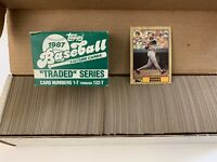 1987 Topps Baseball Complete Set + Traded Set