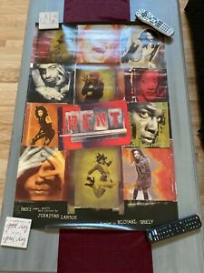 RENT ~OBC Broadway Poster~ Idina Menzel~ Adam Pascal~ Jesse L. Martin~Taye Diggs