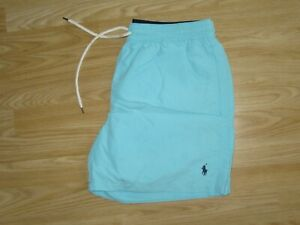 Mens POLO by RALPH LAUREN Blue Swimming Swim Shorts Size L Large GREAT!