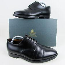 Crockett & Jones Bradford Black Mens Leather Shoes UK 7.5 G Derby Toe-Cap
