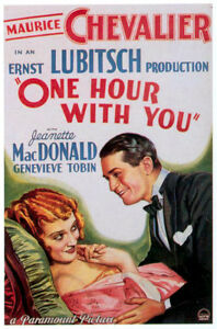 One Hour With You - 1936 Maurice Chevalier Jeanette MacDonald Pre-Code Film DVD