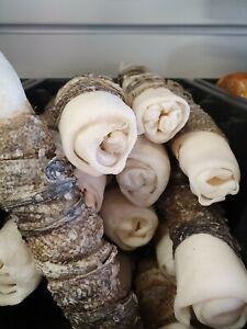 3 X XL Fish Skin Wrapped Hide Rolls