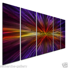 Inception II Abstract Painting on Metal Wall Art Sculpture by Ash Carl