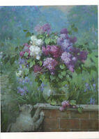 Chickens Flowers Landscape /' modern new unposted postcard by Vyacheslav Palachev