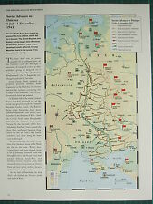 WW2 WWII MAP ~ SOVIET ADVANCE TO DNIEPER 5 JULY 1 DEC 1943 WOTAN DEFENSIVE LINES