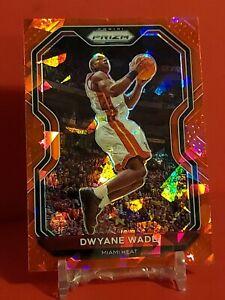 Dwayne Wade 2021 Prizm Red Wave SP #195 Miami Heat