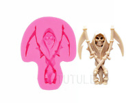 Skull mold silicone scythe skeleton cameo clay mould baking chocolate food