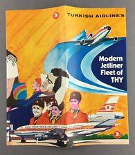 TURKISH AIRLINES MODERN JET FLEET BROCHURE DC-10 CUTAWAY TURK HAVA YOLLARI THY