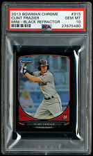 2013 Bowman Chrome Mini Black Refractor Clint Frazier PSA 10 Rookie Card #15/25