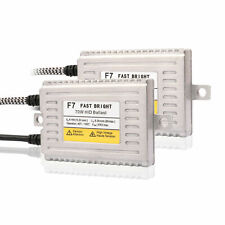 2x DLT F7 70W AC HID Slim Ballast Fast Bright Replacement For Xenon HID Kit 12V