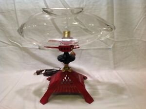 ANTIQUE VINTAGE AIRSHIP ZEPPELIN FISH BOWL TANK AQUARIUM HOLDER LIGHT ART DECO