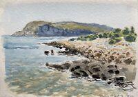 Karl Adser 1912-1995 Felsige Costa su Sesklia Isola Symi Grecia Hellas