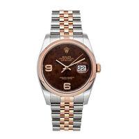 Rolex Datejust Auto 36mm Steel Gold Diamonds Mens Jubilee Bracelet Watch 116201