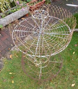 Ornate VICTORIAN WIREWORK GARDEN PLANT STAND ~ historic losses and wear