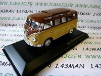 voiture 1/43 ROAD SIGNATURE : VOLKSWAGEN kombi T1 Microbus 1962 marron