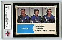 1974-75 OPC WHA #1 The Howes Graded 9.0 MINT (*2020-372)