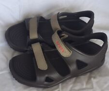 Crocs Swiftwater River Sandal Kids Espresso/Khaki Toddler Boys Size C7 7 NEW