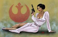 Princess Leia Organa Carrie Fisher Star Wars hero 11x17 pinup print Dan DeMille