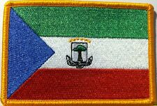 Equatorial Guinea Flag Patch With VELCRO® Brand Fastener Military Gold Emblem #4
