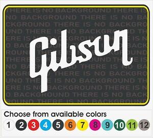 "6"" GIBSON Guitar music amp case logo Window car truck vinyl decal sticker"