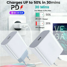 For iPhone 12 / 11 Pro Max 18W Fast Charging Wall Charger USB-C Power Adapter