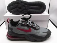 Nike Air Max 270 React Black/Noble Red/Cool Grey CT3135 001 Size 9.5