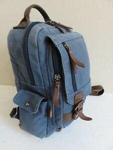 Leaper Backpack Sling Crossbody Bag Retro Denim Canvas Travel Rucksack Messenger