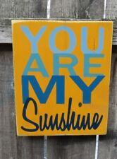 HAND PAINTED YOU ARE MY SUNSHINE WOOD SIGN CUSTOM COLORS WALL DECOR NURSERY