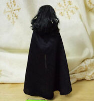 """Handmade 1:6th Black with a hat cloak Coat For 12"""" male Female Figure Body Toy"""