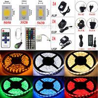 5M 10M 15M SMD 3528 5050 5630 300LEDs RGB White LED Light Strip 12V Power Supply