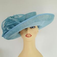 Ladies Wedding Hat Races Mother Bride Turquoise Beaded By Jacques Vert