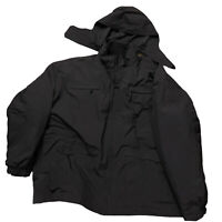 Tru Spec 5XL Black Tactical Jacket Parka w/ Removable Liner Poly Heavy Zip Hood