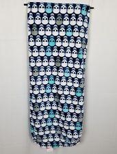 """Betsey Johnson Oversized Plush Black Blue Skull Print Throw Blanket 50x70"""""""