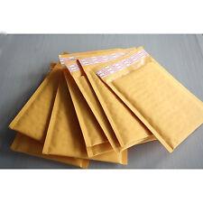 10X 140*160+40mm Kraft Bubble Bag Padded Envelopes Mailers Shipping Yellow FJ