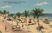 Postcard Hollywood Beach Hollywood by the Sea Florida