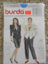 Burda Misses Jacket Pants Skirt Pattern 4846 Size 10-20