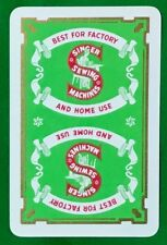 Playing Cards 1 Swap Card Old Vintage SINGER SEWING MACHINES AD Factory + Home 2